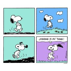 Snoopy stays active.