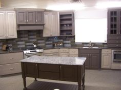 A two toned look adds a spice to your kitchen that is classy and sophisticated
