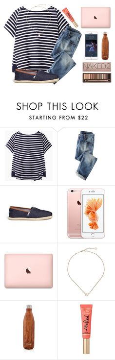 """""""No school today """" by kari-luvs-u-2 ❤ liked on Polyvore featuring Sacai Luck, Wrap, TOMS, Kendra Scott, S'well and Urban Decay"""
