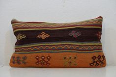 14x24 inchold HANDWOVEN Turkish Kilim Pillow by kilimci on Etsy