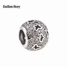 Endless Story Original 925 Sterling Silver Charm Butterfly with Cubic Zirconia Beads Fit Pandora Bracelets Jewelry Making #Affiliate