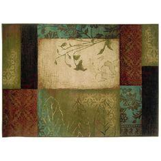 StyleHaven Henderson Block Floral Rug, Beig/Green (Beig/Khaki)