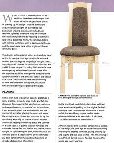Laminated Dining Chair Plans - Furniture Plans