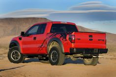 Red Ford Special Vehicle Team Raptor F-150 Truck