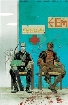 Hawkeye Vs Deadpool cvr by JHarren on deviantART