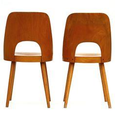 Oswald Haerdtl Chairs, 1962, plywood, oak wood, mid century, funkcionalista.cz