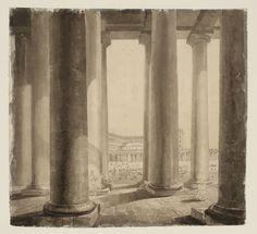 Joseph Mallord William Turner, Thomas Girtin, 'Rome: The Colonnade of St Peter's' c.1795-7