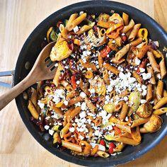 Recipe: Skinny Mediterranean Pasta Toss