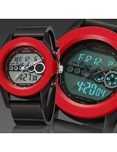 Männer schwarz Runde Zifferblatt Silikonband Japan-Bewegung Mode Tauchen Sportuhr Armbanduhr (farbig sortiert) - http://uhr.haus/weiq/maenner-schwarz-runde-zifferblatt-silikonband-23