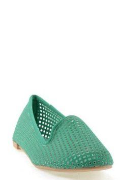 Salya-605 Green, R 11, womens cute fashion, comfort mesh ballerina flat, size,