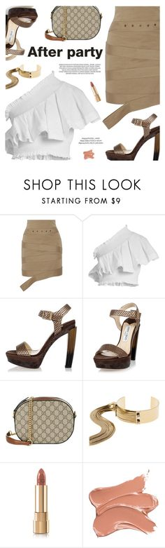 """""""On the Scene: NYFW After Parties"""" by pokadoll ❤ liked on Polyvore featuring Monse, CECILIE Copenhagen, Jimmy Choo, Gucci, May Moma, Dolce&Gabbana, xO Design, afterparty, polyvoreeditorial and polyvoreset"""