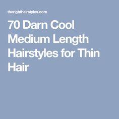 70 Darn Cool Medium Length Hairstyles for Thin Hair Cute Medium Haircuts, Haircuts For Fine Hair, Straight Hairstyles, Bob Haircuts, Work Hairstyles, Latest Hairstyles, Medium Hair Cuts, Medium Hair Styles, Natural Hair Styles