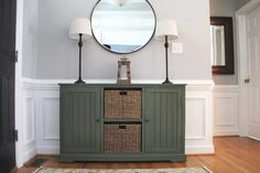 Neutral cabinet in staged home