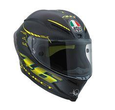 AGV Pista GP Project 46 2.0: http://www.championhelmets.com/en/agv-pista-gp-project-46-20-helmet-valentino-rossi.html