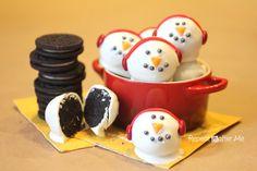 Snowmen Oreo Truffle Balls - Repeat Crafter Me