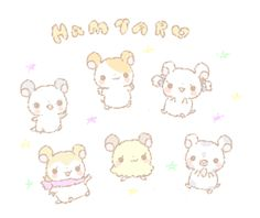 Hamtaro Hamtaro, Cute Hamsters, Cute Little Things, Anime Eyes, Fantastic Art, Cute Characters, Japanese Culture, Cute Illustration, Me Me Me Anime