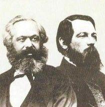 Karl Marx y Friederich Engels