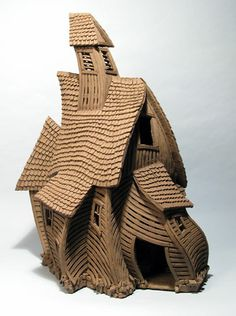 Wonky Barn - Buildings - Gallery - John Brickels, Architectural Sculpture and Claymobiles, Essex Jct, Vermont