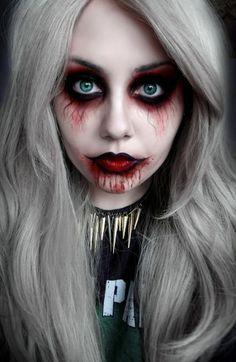 banshee, undead, zombie makeup