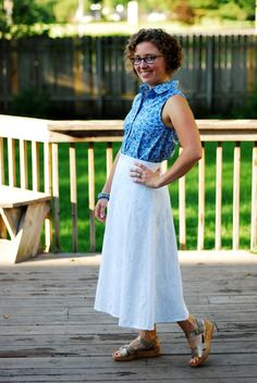 Yet another stunning Archer and #vintagepledge skirt combo from Michelle!
