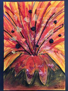 NEW: Natural Disasters – Volcano – Easy Peasy Art School Online Art Lesson – My Favorite Primary School Art, Elementary Art, Natural Disasters For Kids, Online Art School, Polynesian Art, Easy Art Projects, Expressive Art, Art Activities, Dinosaur Activities