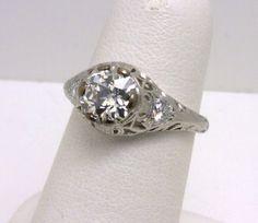 vintage platinum diamond ring benchmarkgembrokers.com