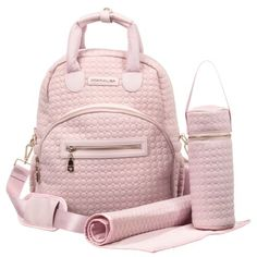 A diaper bag or nappy bag is a storage bag with many pocket-like spaces that is big enough to carry everything needed by someone taking care of a baby while taking a typical short outing. Baby Girl Diaper Bags, Best Diaper Bag, Diaper Bag Backpack, Baby Girl Car Seats, Baby Changing Bags, Changing Mat, New Baby Girls, Kids Bags, Kid Outfits
