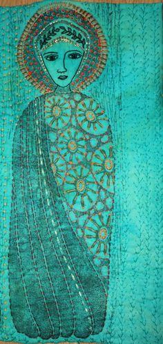 Musings of a textile itinerant: Open European Quilt Championships Textile Fiber Art, Textile Artists, Embroidery Art, Embroidery Patterns, Fabric Art, Fabric Crafts, Creative Textiles, Religious Art, Art Plastique