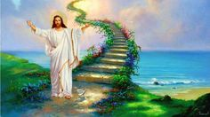 Fantasy, Landscape, Art, Artwork, Nature Wallpapers - Stairway To Heaven Wallpaper Dios, Heaven Wallpaper, Jesus Wallpaper, Stairway To Heaven, Path To Heaven, Past Life Regression, Regression Therapy, Surrealism Painting, Rainbow Bridge