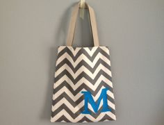 Customized Chevron Bag with Initial by simpleanalogy on Etsy, $23.00