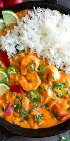 This delicious Thai Coconut Shrimp Curry is blanketed in the most decadent sauce and full of so much flavor! It's quick, easy, and a must make for dinner tonight! Thai Recipes, Curry Recipes, Seafood Recipes, Indian Food Recipes, Asian Recipes, Cooking Recipes, Zoodle Recipes, Asian Foods, Coconut Curry Shrimp