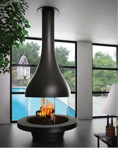 フードタイプ暖炉「アレクシア 995 センターモデル ガラス付き」