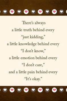 Words can hurt :(
