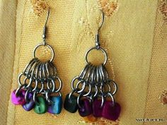 Peacock Chainmaille Earrings Pattern