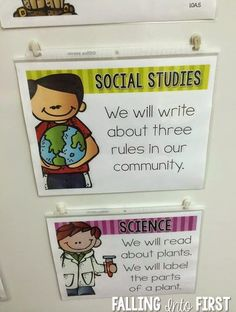 Display your learning targets with page protectors and stikki clips. Editable objective signs!