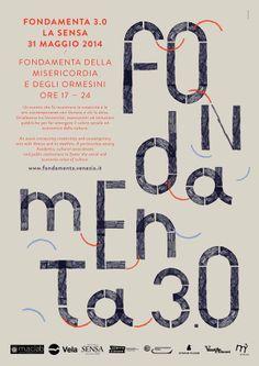Design for the event and exhibition Fondamenta 3.0 – La Sensa by Studio Fludd.