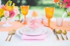 #place-settings, #orange  Photography: Paper Antler - paperantler.com Floral Design: Studio Fleurette - studiofleurette.com Wedding Venue: Seven Oaks Farm - www.sevenoaksfarm.info