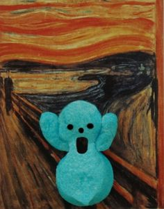 Here is the Peep version of The Scream by Edvard Much.