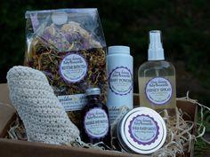 Organic Baby Bath Set Gift Box by GoldenSpiralBotanics on Etsy, $42.00