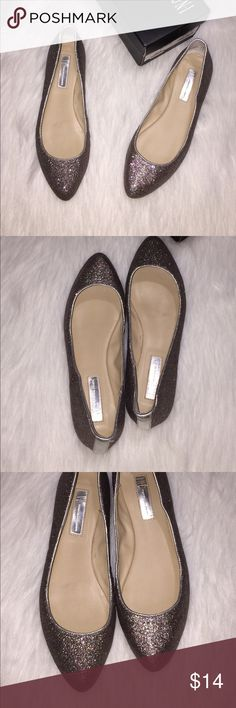 INC Shimmering glitter flats Gently used almond toe sparkling flats. INC International Concepts Shoes Flats & Loafers