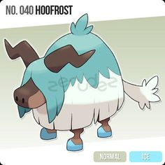 Original Entry 040 Hoofrost By Zerudez Baby Pokemon To Glacyak That Knows A Stomp Like Ice Move Only It Can Learn