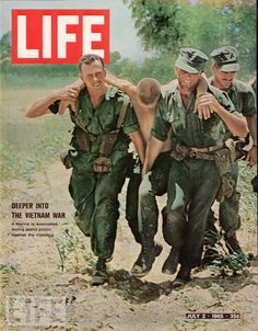 LIFE Magazine ~ July Cover Story: Deeper Into the Vietnam War: A Marine is Evacuated During Partol Action. Vietnam War Photos, Vietnam Veterans, Vietnam History, Life Magazine, History Magazine, Einstein, Historia Universal, Life Cover, World History