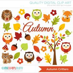 Fall Animals / Autumn Critters Clip Art / by MyClipArtStore, $5.00  https://www.etsy.com/listing/166196547/fall-animals-autumn-critters-clip-art?ref=sr_gallery_6&ga_order=date_desc&ga_view_type=gallery&ga_page=111&ga_search_type=all