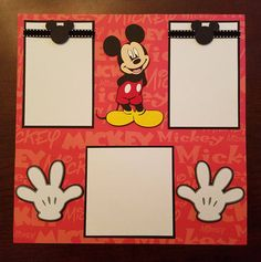Mickey Mouse & Pluto 2 Page Premade Scrapbook Layout Disneyland Disney Scrapbook Layout ft. Mickey Mouse & Pluto 2 Page Ideas Scrapbook, Cruise Scrapbook, Disney Scrapbook Pages, Birthday Scrapbook, Scrapbook Journal, Scrapbook Page Layouts, Baby Scrapbook, Scrapbook Cards, Photo Layouts