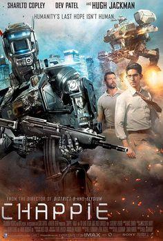 'Chappie' com Hugh Jackman teve divulgado trailer e pôsteres - Cinema BH 2015 Movies, Hd Movies, Movies To Watch, Movies Online, Movies And Tv Shows, Movie Tv, Science Fiction, Fiction Movies, Hugh Jackman