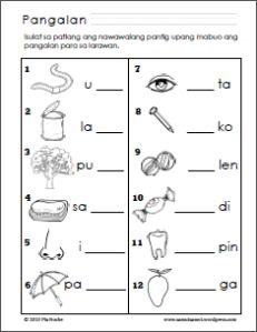 Alpabeto at Pantig Worksheets - Samut-samot 1st Grade Reading Worksheets, Grade 1 Reading, Free Kindergarten Worksheets, Teacher Worksheets, Free Printable Worksheets, Vowel Worksheets, Alphabet Worksheets, Preschool Activities, Printables