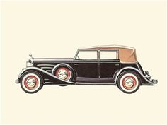 Car Drawings, Drawing Sketches, Car Illustration, Illustrations, Cadillac, Antique Cars, Classic Cars, Automobile, Vehicles