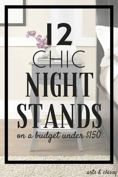 My favorite is #10! What is yours? Learn more -->> 12 chic nightstands on a budget under $150 + some more amazing finds! I just want to shower my bedroom with beautiful furniture!