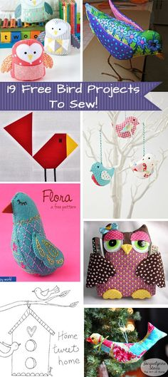 19 Free Bird Projects to Sew! - Jacquelynne Steves 19 Free Bird Projects to Sew! 19 Free Bird Projects to Sew! – Jacquelynne Steves 19 Free Bird Projects to Sew! Bird Patterns, Sewing Patterns Free, Free Sewing, Sewing Tutorials, Quilt Patterns, Sewing Ideas, Diy Craft Projects, Sewing Projects, Project Ideas