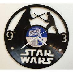 Star Wars Vader vs Luke Wall Clock, Wall clock, vinyl record clock, vinyl clock, clock